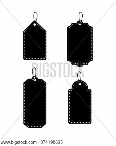 Set Of  Price Tag Vector On White Background, Sale Tag Isolated, Blank Tag Tied Collections, Discoun