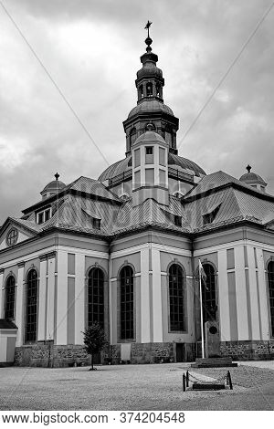 Former Lutheran Church In The Baroque Style  In Jelenia Gora, Black And White