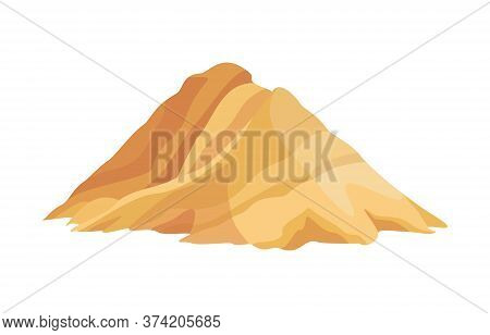 Heap Building Material. Heap Of Sand. Vector Illustrations Can Be Used For Construction Sites, Works