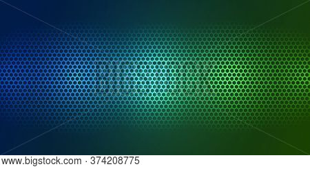 Bright Color Carbon Fiber Texture. Colorful Background. Hexagon Metal Texture Steel Background. Web