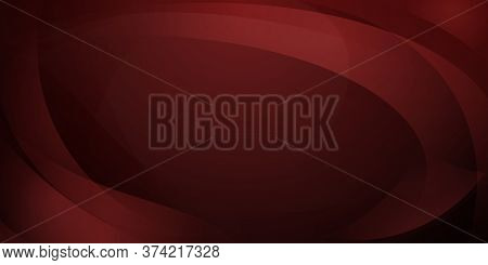 Abstract Background Made Of Curved Lines In Dark Red Colors