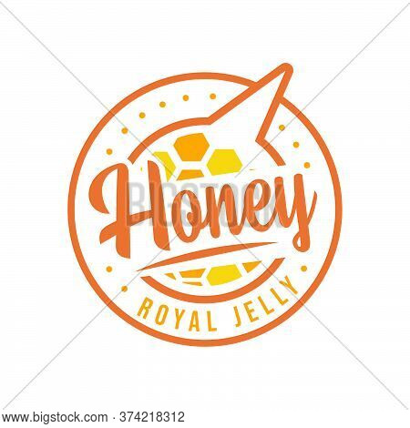 Honey Royal Jelly Label Design And Sticker For Business Design Element