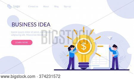 Concept Of Business Idea Of Increasing Profit, Income, Earnings, Revenue. Businesswoman, Glowing Lig