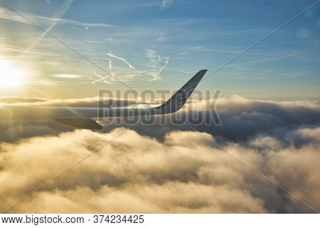FRANKFURT AM MAIN, GERMANY - CIRCA JANUARY, 2020: aerial view from Airbus A320-200 operated by Lufthansa.