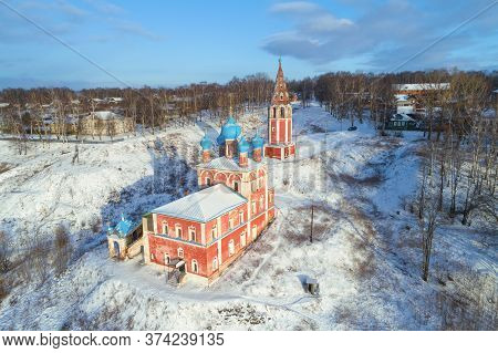 View Of The Old Church Of The Icon Of Our Lady Of Kazan In A Winter Landscape. Tutaev (romanov-boris