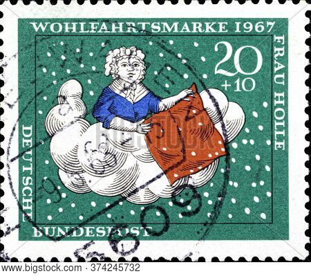 02 10 2020 Divnoe Stavropol Territory Russia The Germany Postage Stamp 1967 Charity Stamps - Fairy T