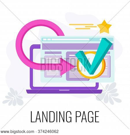 Landing Page Icon. Standalone Web Page. Going From Landing Page To Site. Digital Marketing. Ecommerc