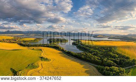 Beautiful Liptov Landscape By The Water Reservoir Of The Liptovska Mara Dam