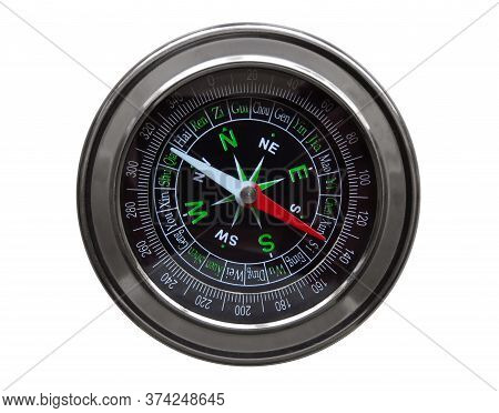 Compass Isolated On White. Clipping Path Included.