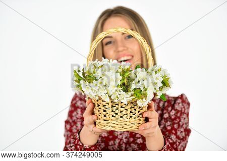 Delivering Bloom. Arrange Cut Flowers Nice Bouquet. Happiness. First Spring Flowers. Womens And Moth