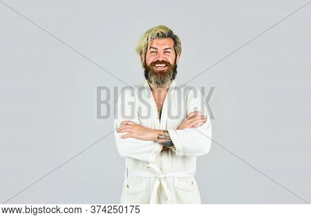Nice Smile. Early Wake Up. Lazy Sunday. Morning Sex Concept. Mens Health. Happy Bachelor Man In Bath