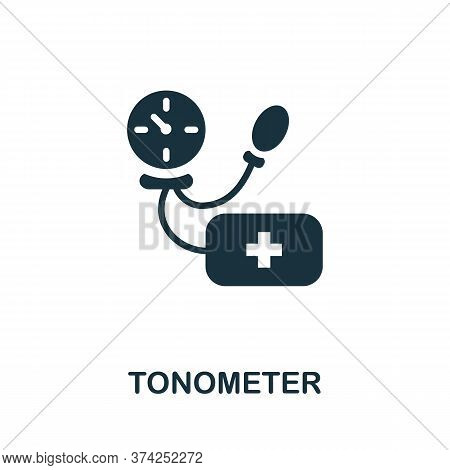 Tonometer Icon. Simple Element From Digital Health Collection. Creative Tonometer Icon For Web Desig
