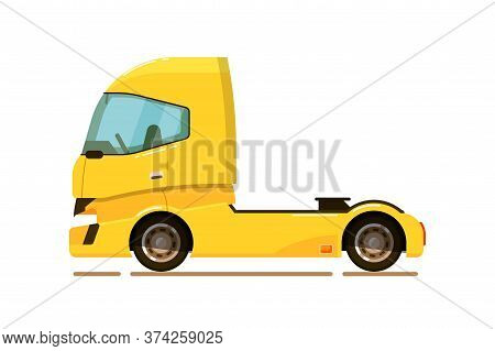 Freight Transport. Cargo Truck Tractor Icon Isolated On White Background. Freight Transport Vector I