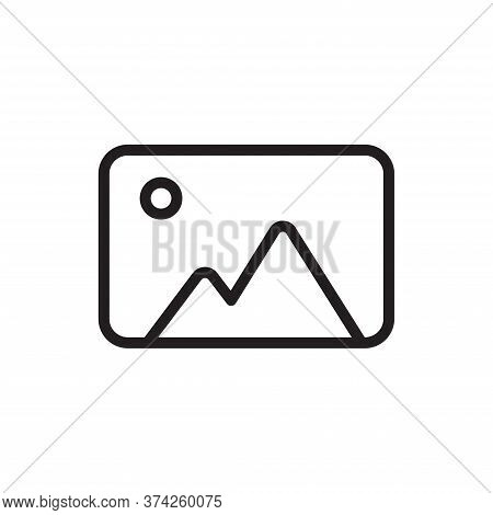 Photo Icon Isolated On White Background. Photo Icon In Trendy Design Style For Web Site And Mobile A