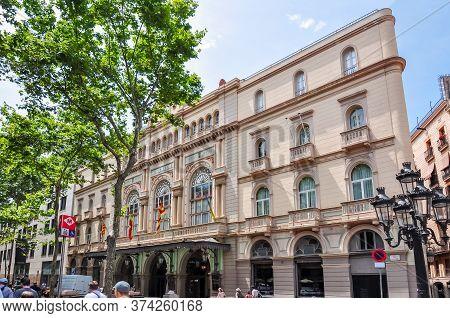 Liceu Theater On La Rambla Street, Barcelona, Spain