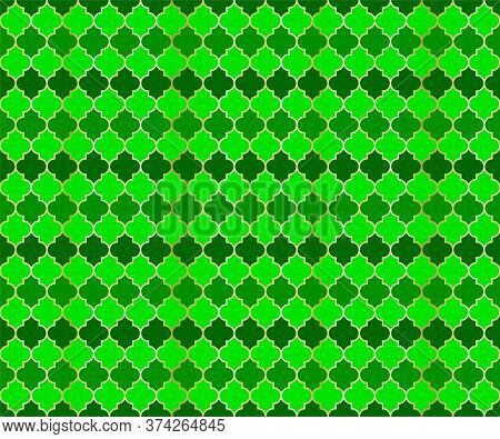 Persian Mosque Window Vector Seamless Pattern. Ramadan Mubarak Muslim Background. Traditional Ramada