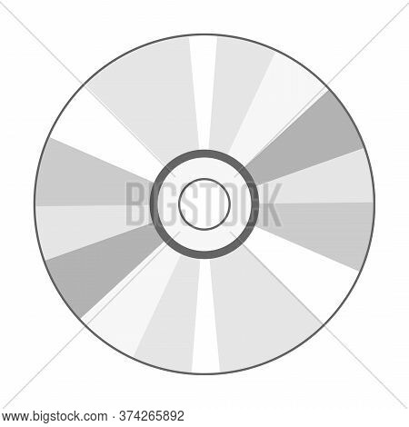 Cd Disk Icon Isolated On White Background, Vector Illustration