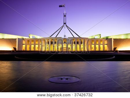CANBERRA - NOV 08: this is Australia's landmark parliament house where both sides of the federal government debate future topics of the Australian nation. November 08, 2009 Canberra Australia
