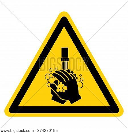 Please Wash Your Hand Symbol Sign,vector Illustration, Isolated On White Background Label. Eps10