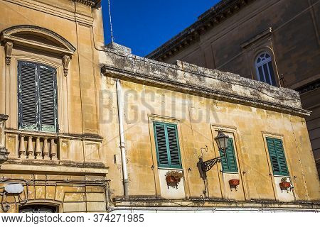 Lecce Apulia Italy 14 October 2019 View Of Houses And Alleys In The Old Town