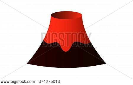 Volcano 3d Illustration With Lava Eruption Isolated