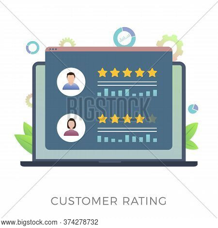 Customer Rating Flat Vector Icon Concept. Increase Ranking, Evaluation And Classification, Know Your