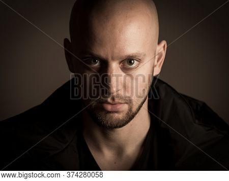 Skinhead Baldness Shaved Head Man Angry Racist