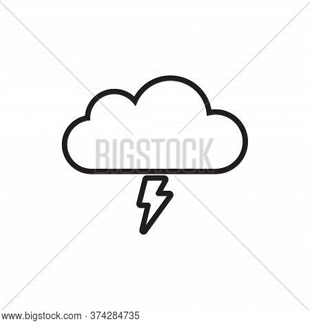 Storm Icon Isolated On White Background. Storm Icon In Trendy Design Style For Web Site And Mobile A