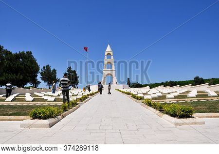 Canakkale, Turkey - 24 June 2011: 57th Infantry Regiment Monument And Cemetery. The 57th Infantry Re