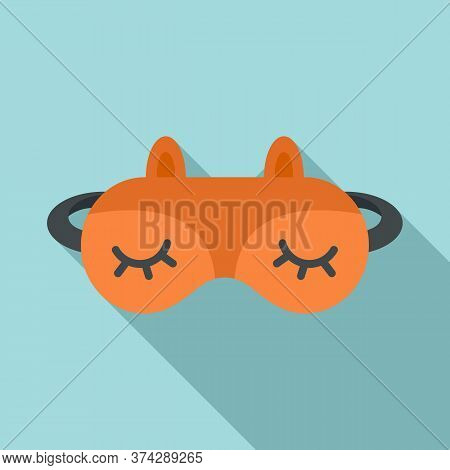 Lifestyle Sleeping Mask Icon. Flat Illustration Of Lifestyle Sleeping Mask Vector Icon For Web Desig