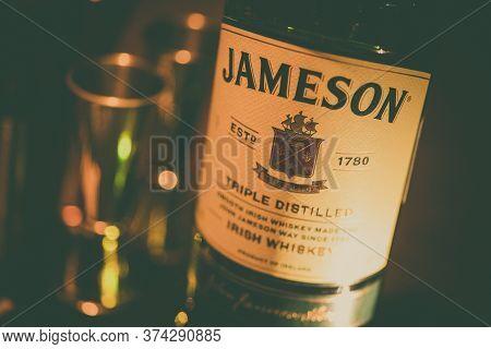 Bucharest, Romania - January 27, 2020: Illustrative Editorial Image Of An Irish Whisky Bottle Of Jam