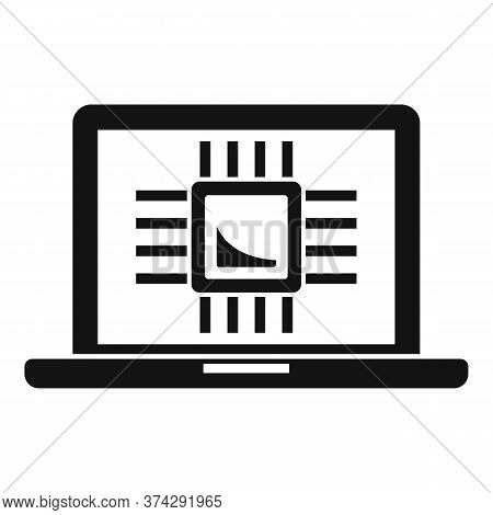 Ai Laptop Processor Icon. Simple Illustration Of Ai Laptop Processor Vector Icon For Web Design Isol