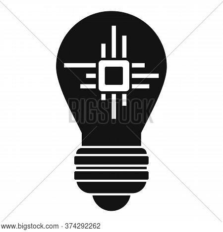Ai Processor Bulb Icon. Simple Illustration Of Ai Processor Bulb Vector Icon For Web Design Isolated