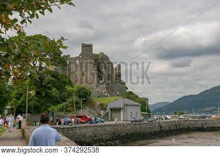 Dublin, Ireland - August 01 2005: Beautiful Day In Carlingford Village On The Borther Onf Northen Ir