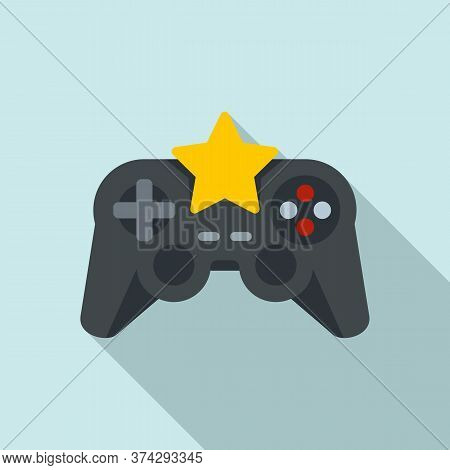 Star Video Game Joystick Icon. Flat Illustration Of Star Video Game Joystick Vector Icon For Web Des