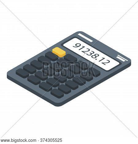 Broker Calculator Icon. Isometric Of Broker Calculator Vector Icon For Web Design Isolated On White