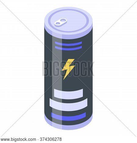 Deadline Energy Drink Icon. Isometric Of Deadline Energy Drink Vector Icon For Web Design Isolated O