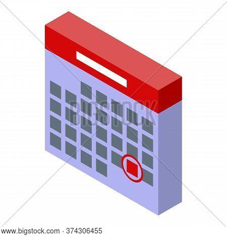 Deadline Calendar Icon. Isometric Of Deadline Calendar Vector Icon For Web Design Isolated On White