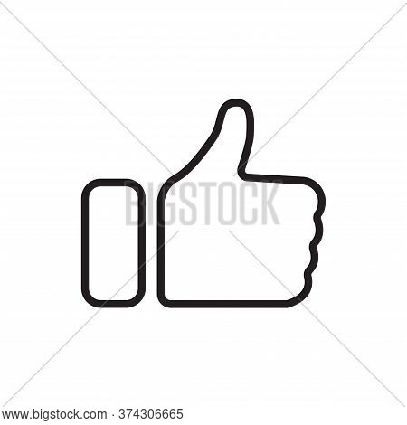 Thumbs Up Icon Isolated On White Background. Thumbs Up Icon In Trendy Design Style For Web Site And
