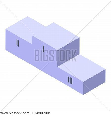 Trade War Podium Icon. Isometric Of Trade War Podium Vector Icon For Web Design Isolated On White Ba