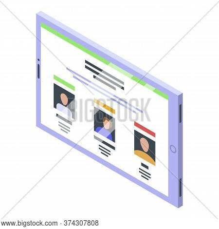 Tablet Advertising Reputation Icon. Isometric Of Tablet Advertising Reputation Vector Icon For Web D
