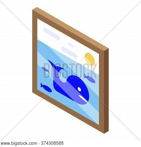 Kid Room Wall Picture Icon. Isometric Of Kid Room Wall Picture Vector Icon For Web Design Isolated O