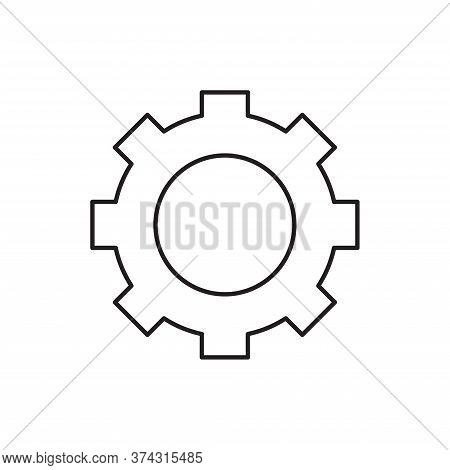 Gear Icon Isolated On White Background. Gear Icon In Trendy Design Style For Web Site And Mobile App