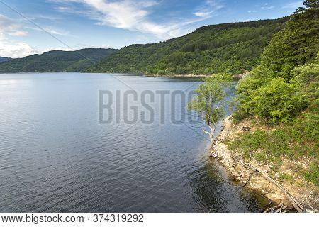 Landscape Of Topolnitsa Reservoir, Sredna Gora Mountain, Bulgaria