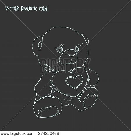 Soft Toy Icon Line Element. Vector Illustration Of Soft Toy Icon Line Isolated On Clean Background F