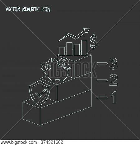 Financial Plan Icon Line Element. Vector Illustration Of Financial Plan Icon Line Isolated On Clean
