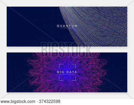 Artificial Intelligence Background. Digital Technology, Deep Learning And Big Data Concept. Abstract