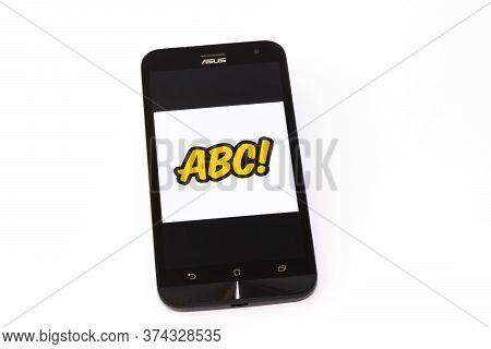 Kouvola, Finland - 23 January 2020: Abc-mobiili App Logo On The Screen Of Smartphone Asus