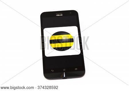 Kouvola, Finland - 23 January 2020: Beeline App Logo On The Screen Of Smartphone Asus