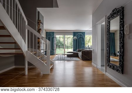 Cozy Home Interior With Stairs
